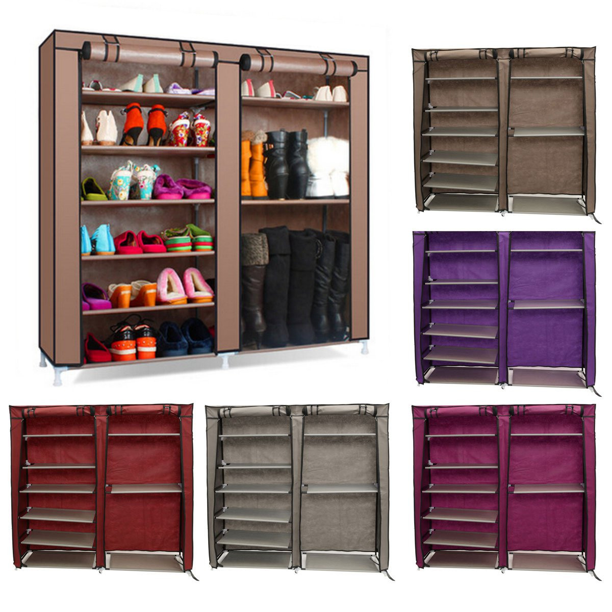 Best ideas about DIY Closet Rack . Save or Pin 6 Tier Covered Shoes Rack DIY Storage Shelf Tidy Organizer Now.