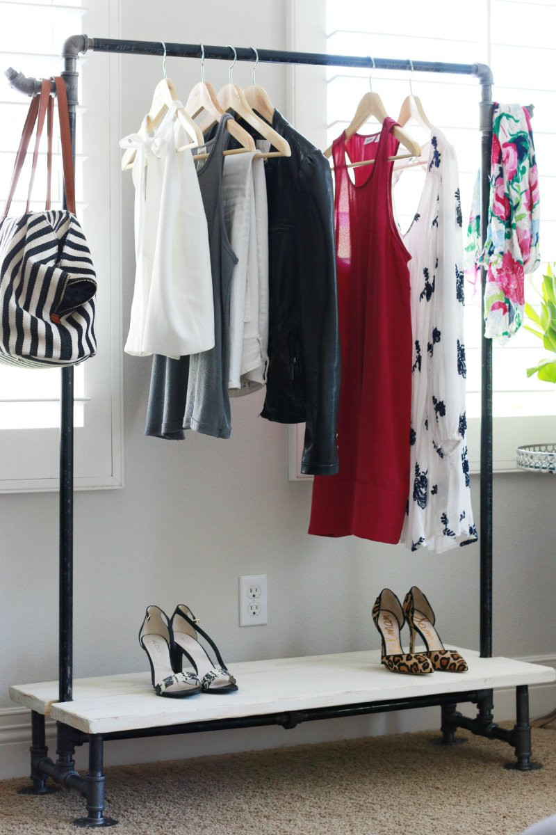 Best ideas about DIY Clothing Rack . Save or Pin DIY Garment Rack A Thoughtful Place Now.