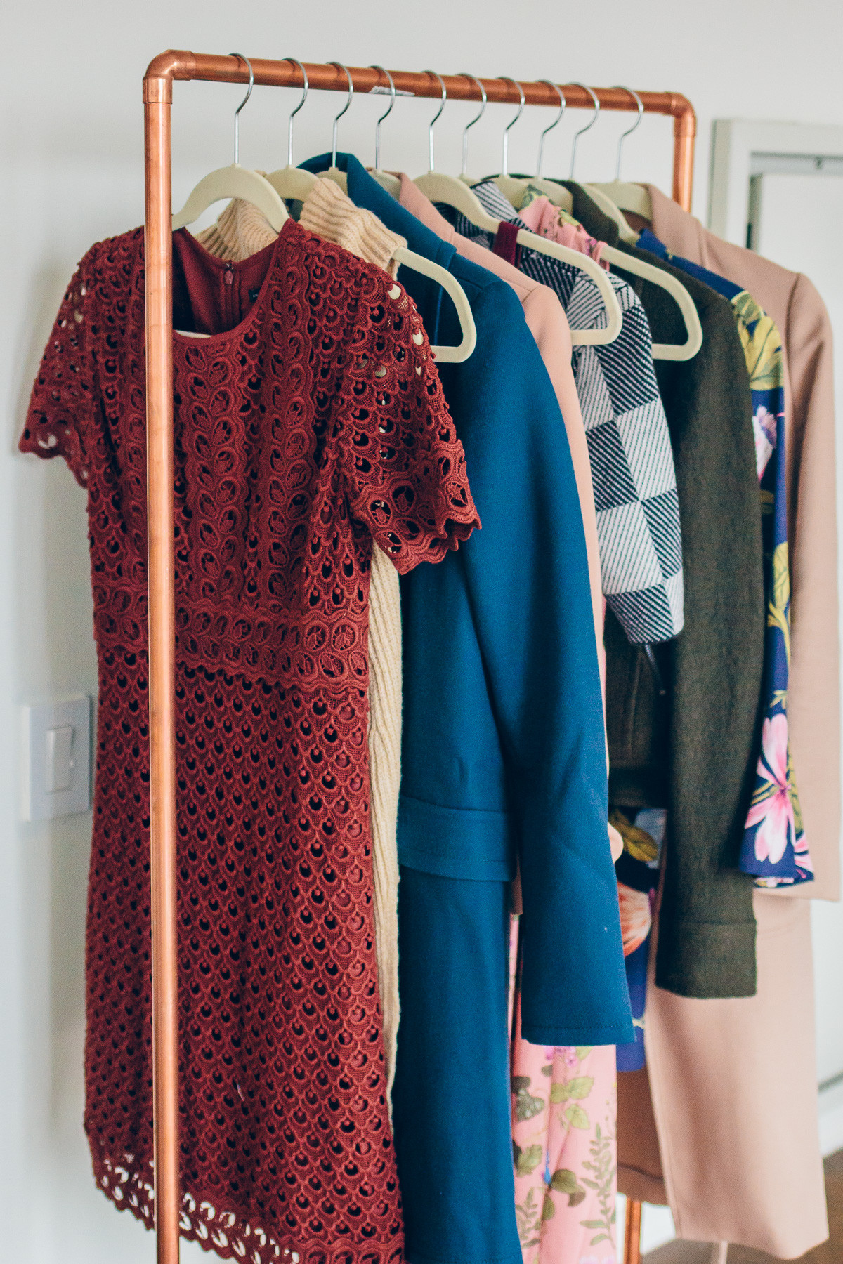 Best ideas about DIY Clothing Rack . Save or Pin DIY Copper Clothing Rack Now.