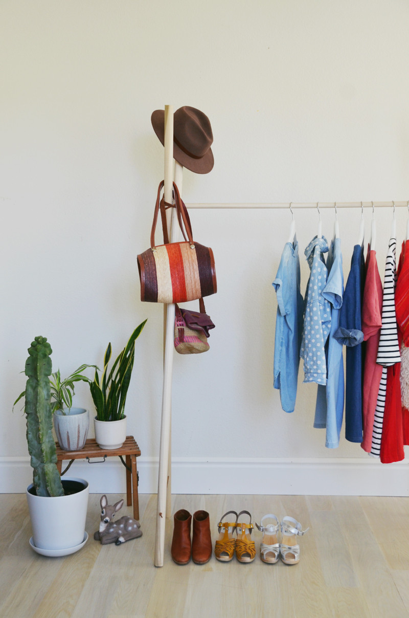 Best ideas about DIY Clothing Rack . Save or Pin DIY Clothing Rack – A Beautiful Mess Now.