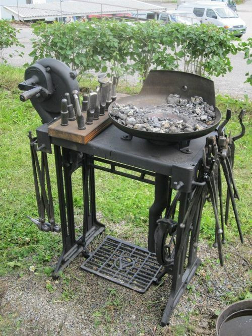 Best ideas about DIY Coal Forge Plans . Save or Pin Singer sewing machine converted to small work bench cool Now.