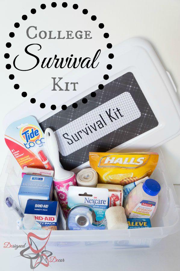 Best ideas about DIY College Survival Kit . Save or Pin College Survival Kit Designed Decor Now.