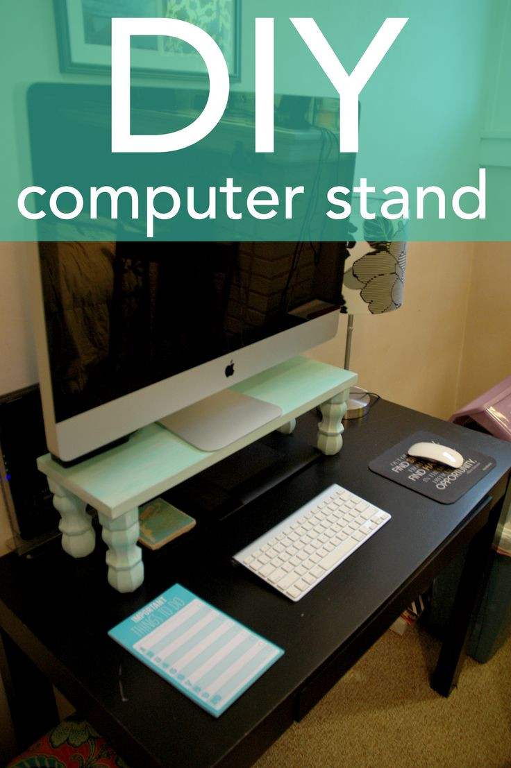 Best ideas about DIY Computer Monitor Stand . Save or Pin DIY puter Stand DIY Shelving Pinterest Now.