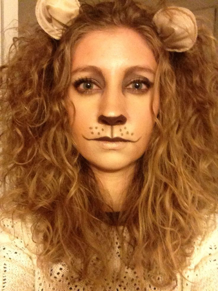 Best ideas about DIY Cowardly Lion Costume . Save or Pin Lion makeup Pretty cool fancy dress idea Now.