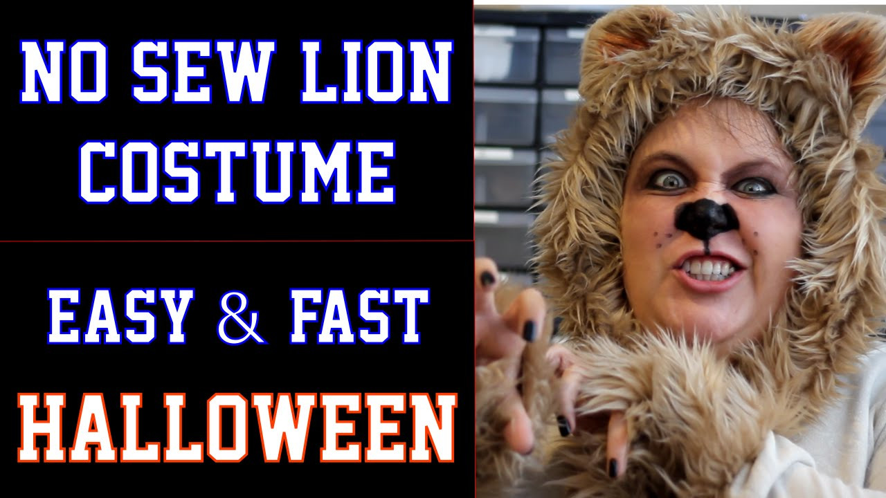 Best ideas about DIY Cowardly Lion Costume . Save or Pin No Sew Lion Halloween Costume DIY Fast and Easy Wizard Now.