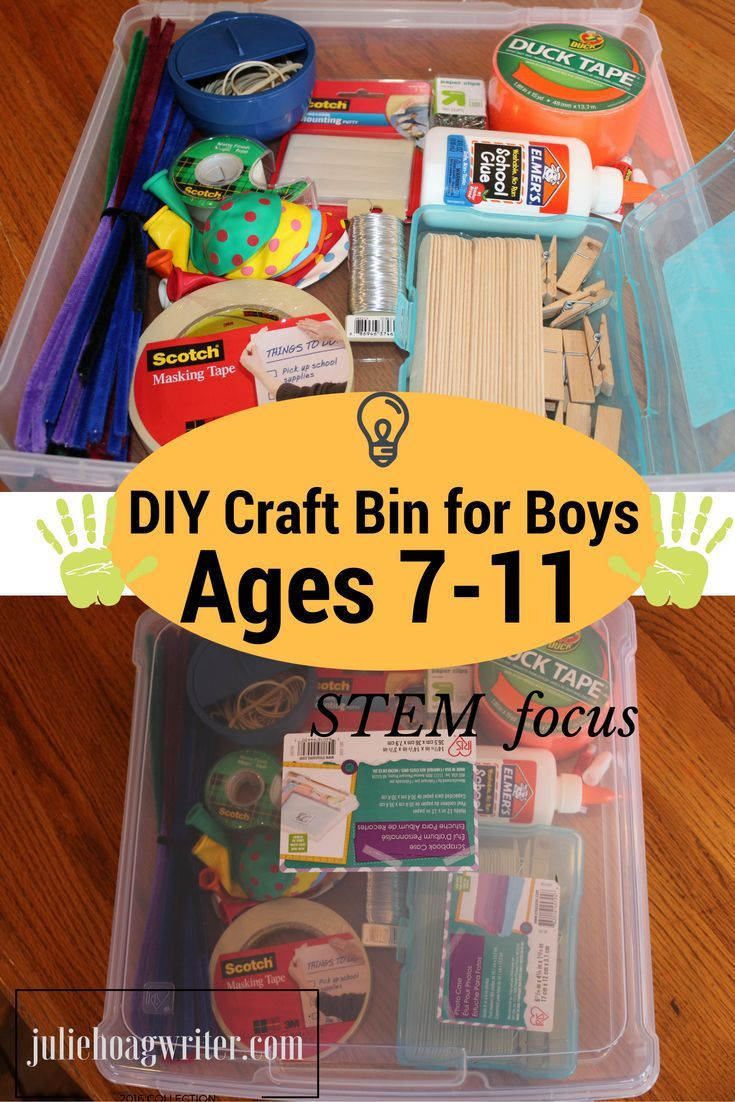 Best ideas about DIY Craft Kits For Kids . Save or Pin DIY Craft Bin with STEM Focus for Boys Ages 7 11 Now.