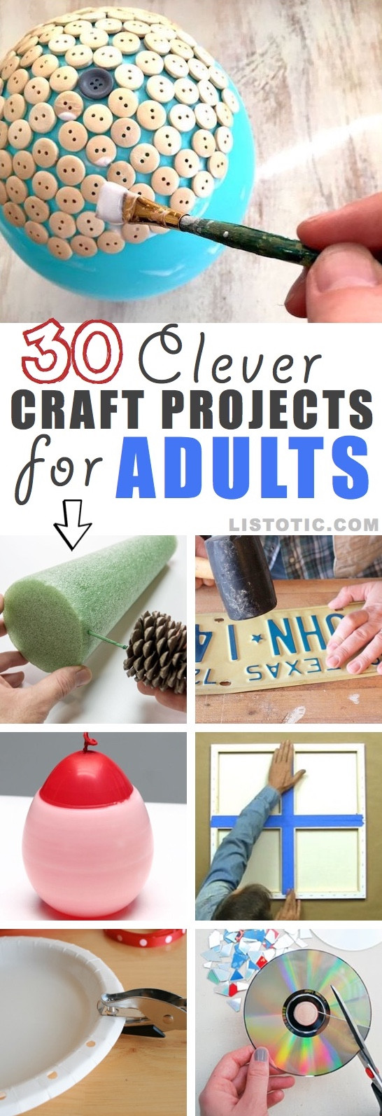 Best ideas about DIY Craft Projects For Adults . Save or Pin 30 Easy Craft Ideas That Will Spark Your Creativity DIY Now.
