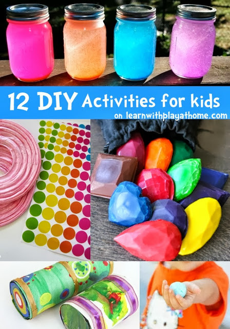 Best ideas about DIY Crafts For Kids . Save or Pin Learn with Play at Home 12 fun DIY Activities for kids Now.