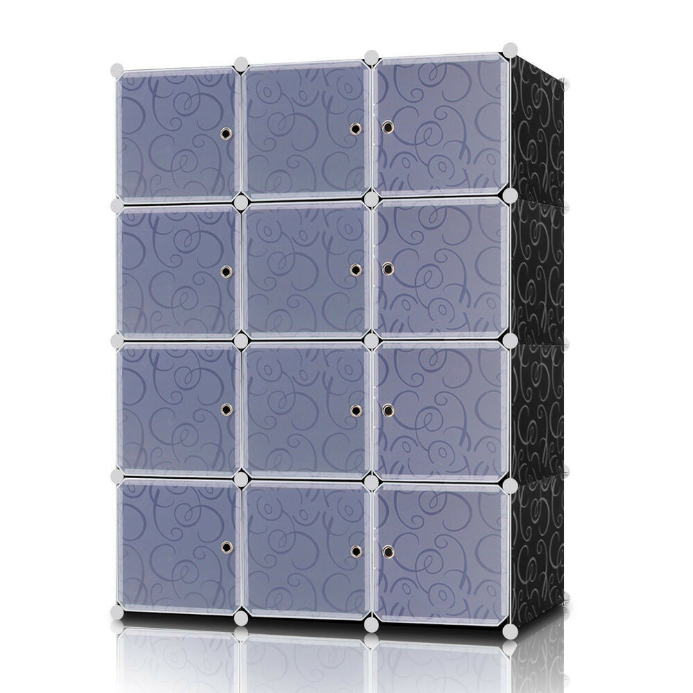 Best ideas about DIY Cube Organizer . Save or Pin Lifewit DIY Plastic Clothes Closet 12 Cube Interlocking Now.