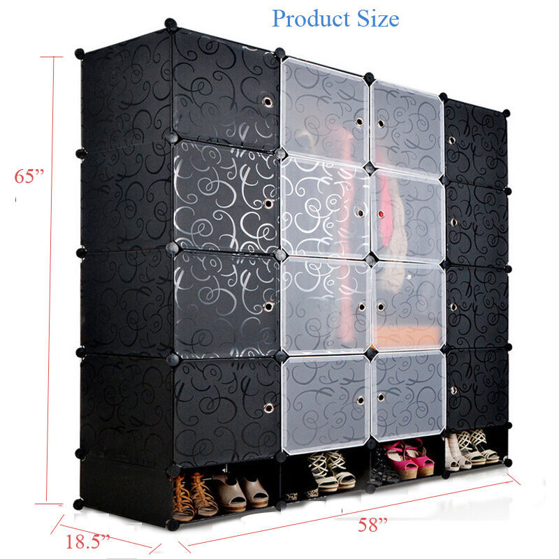 Best ideas about DIY Cube Organizer . Save or Pin DIY Black 16 Cube Storage Organizer Wardrobe Close Now.