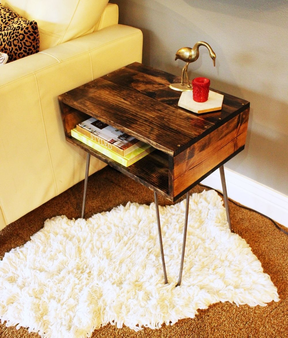 Best ideas about DIY D&D Table . Save or Pin DIY Hairpin Leg Side Table Now.