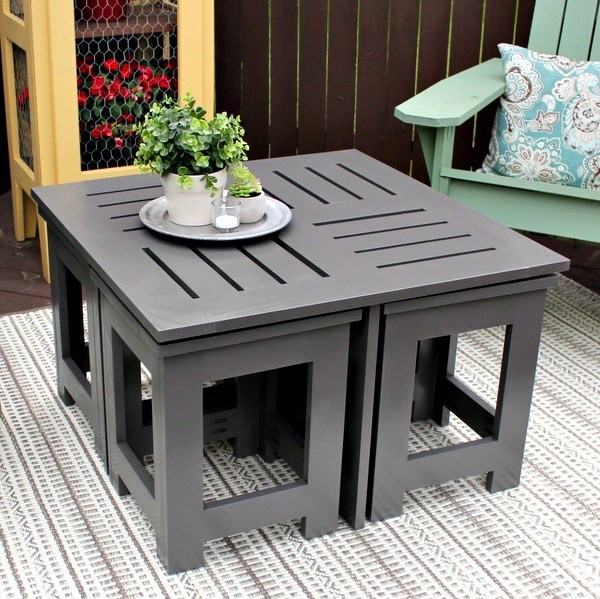 Best ideas about DIY D&D Table . Save or Pin DIY Outdoor Coffee Table with 4 Hidden Side Tables Now.
