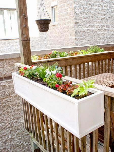 Best ideas about DIY Deck Box . Save or Pin DIY flower boxes think we ll do this on the front deck Now.