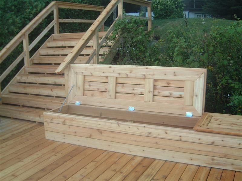 Best ideas about DIY Deck Box . Save or Pin Deck bench with storage DIY Now.