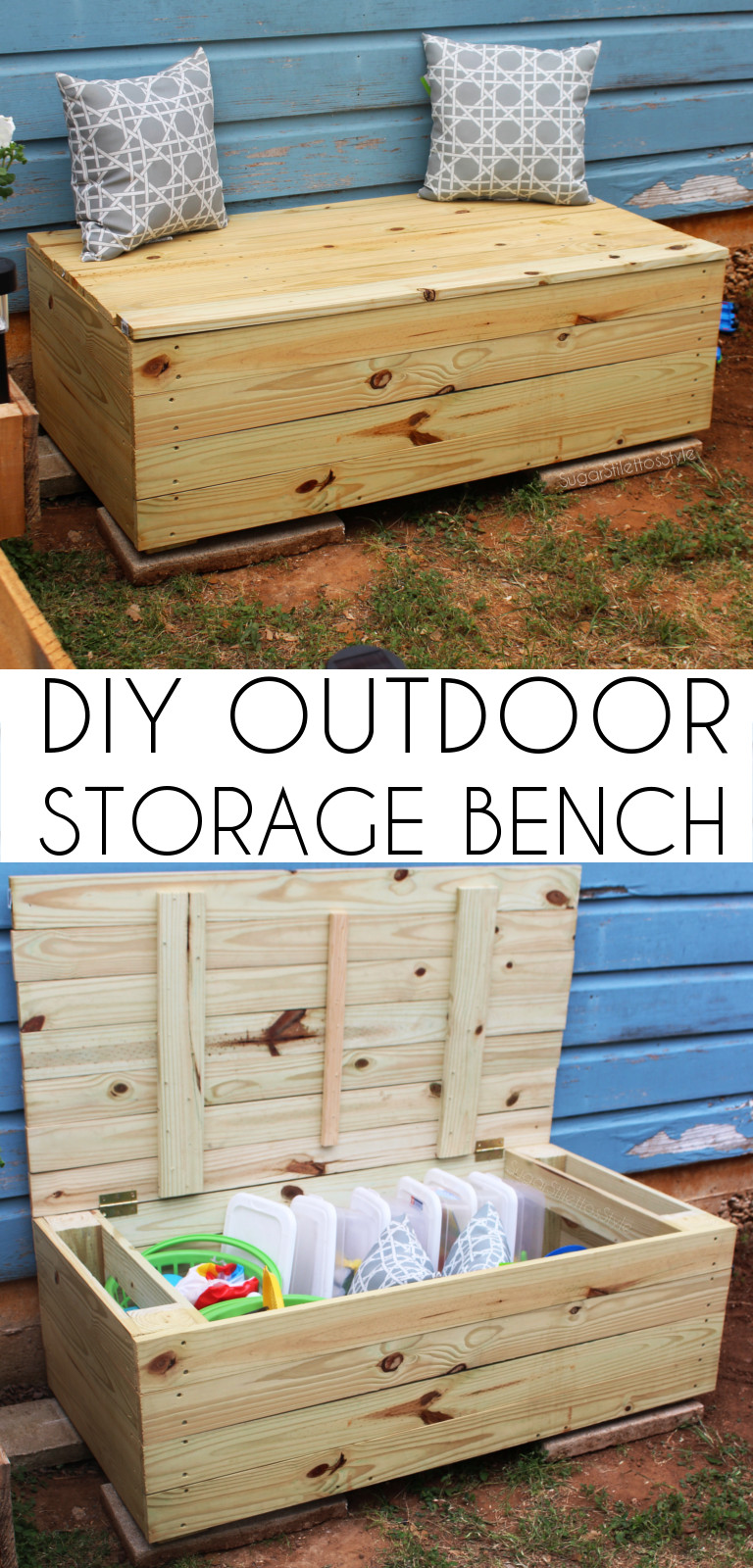 Best ideas about DIY Deck Box . Save or Pin DIY Outdoor Storage Bench Outdoor Toy Box Now.