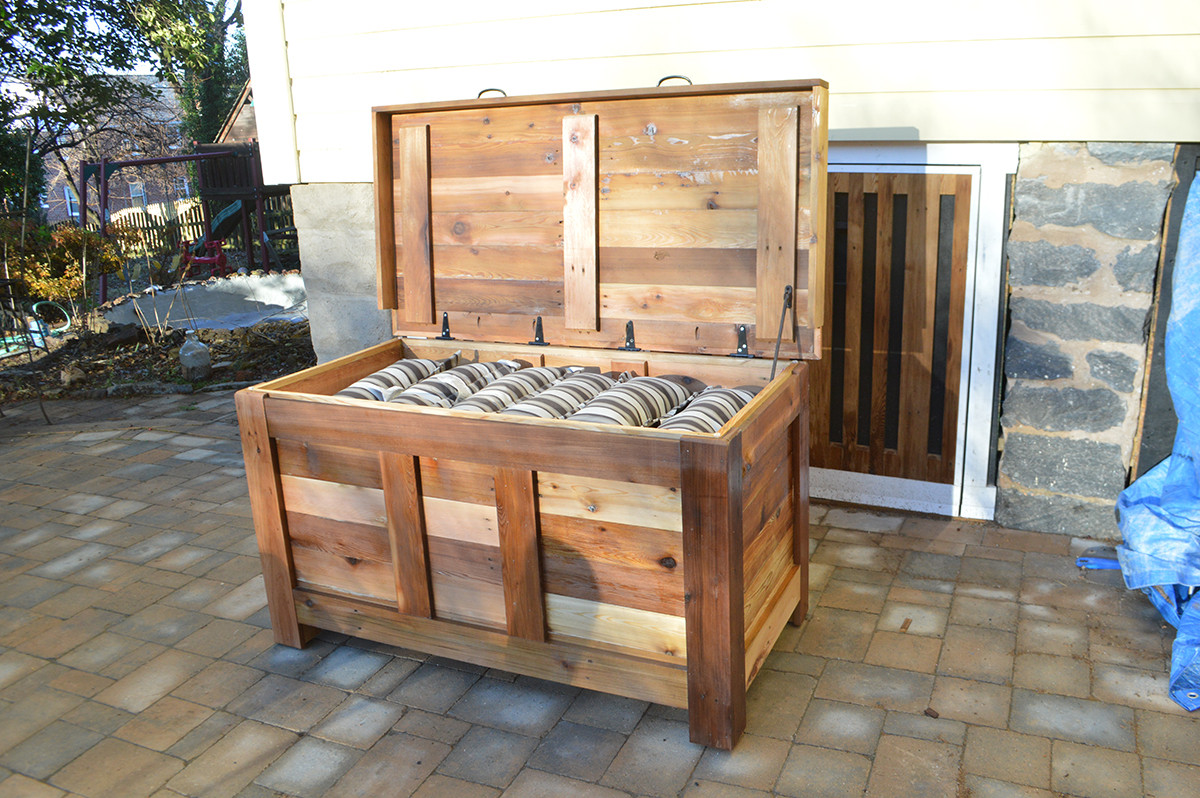 Best ideas about DIY Deck Boxes . Save or Pin DIY Outdoor Storage Box Now.
