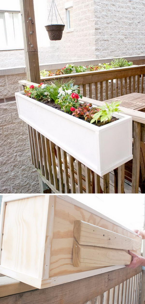 Best ideas about DIY Deck Boxes . Save or Pin 30 Creative DIY Wood and Pallet Planter Boxes To Style Up Now.