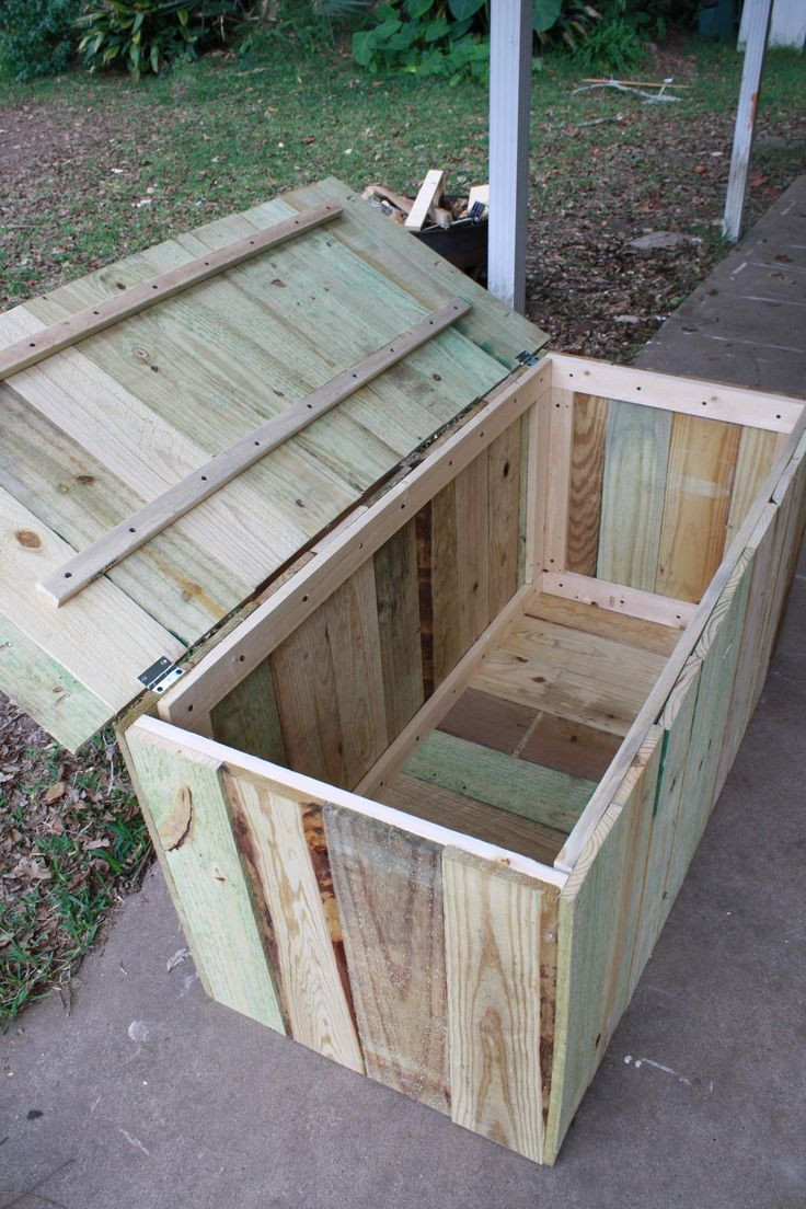 Best ideas about DIY Deck Boxes . Save or Pin Wood Deck Storage Box WoodWorking Projects & Plans Now.
