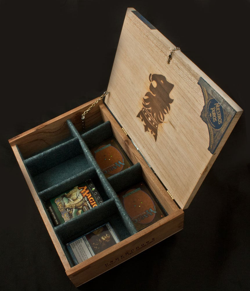 Best ideas about DIY Deck Boxes . Save or Pin Magic The Gathering Wooden Deck Box Undercrown Cigar Box Now.