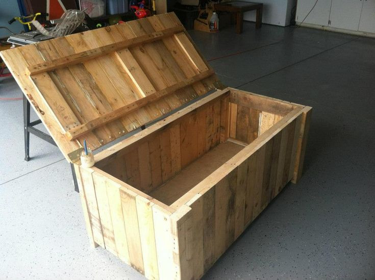 Best ideas about DIY Deck Boxes . Save or Pin Storage Deck Box From pallet wood Now.