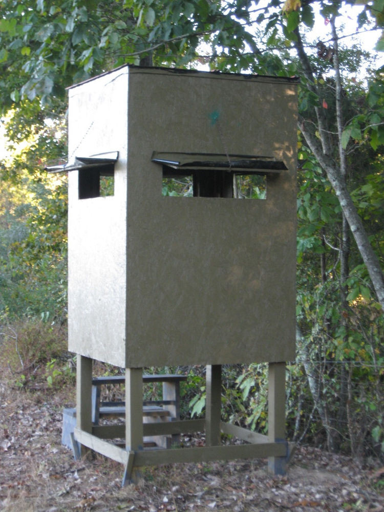 Best ideas about DIY Deer Stand Plans . Save or Pin Poor Man s Hunting Box Blind Shooting House Build Plan Now.