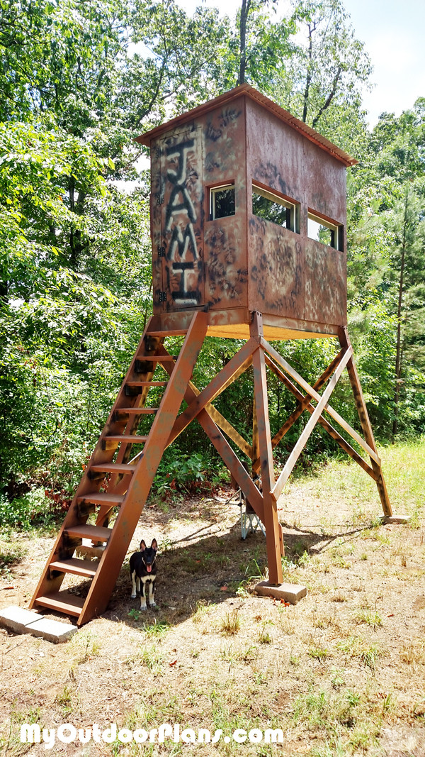 Best ideas about DIY Deer Stand Plans . Save or Pin DIY Deer Shooting Blind MyOutdoorPlans Now.
