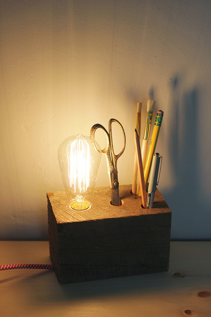 Best ideas about Diy Desk Lamp . Save or Pin DIY Wooden Base Desk Lamp Now.