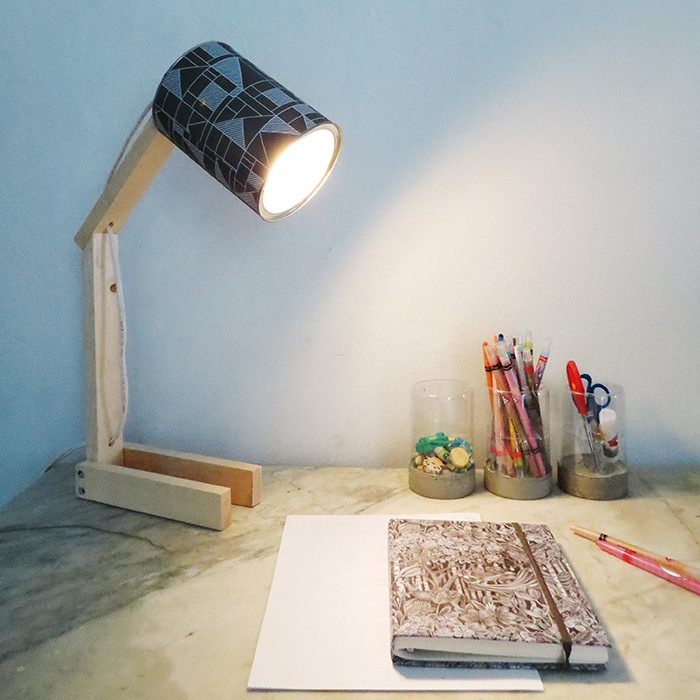 Best ideas about Diy Desk Lamp . Save or Pin How to make a desk lamp with can Ohoh Blog Now.