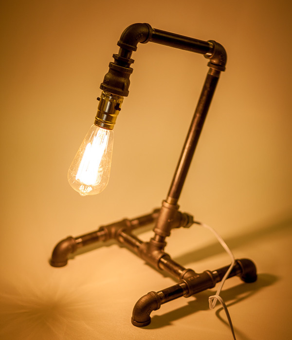 Best ideas about Diy Desk Lamp . Save or Pin 16 Sculptural Industrial DIY Pipe Lamp Design Ideas Able Now.