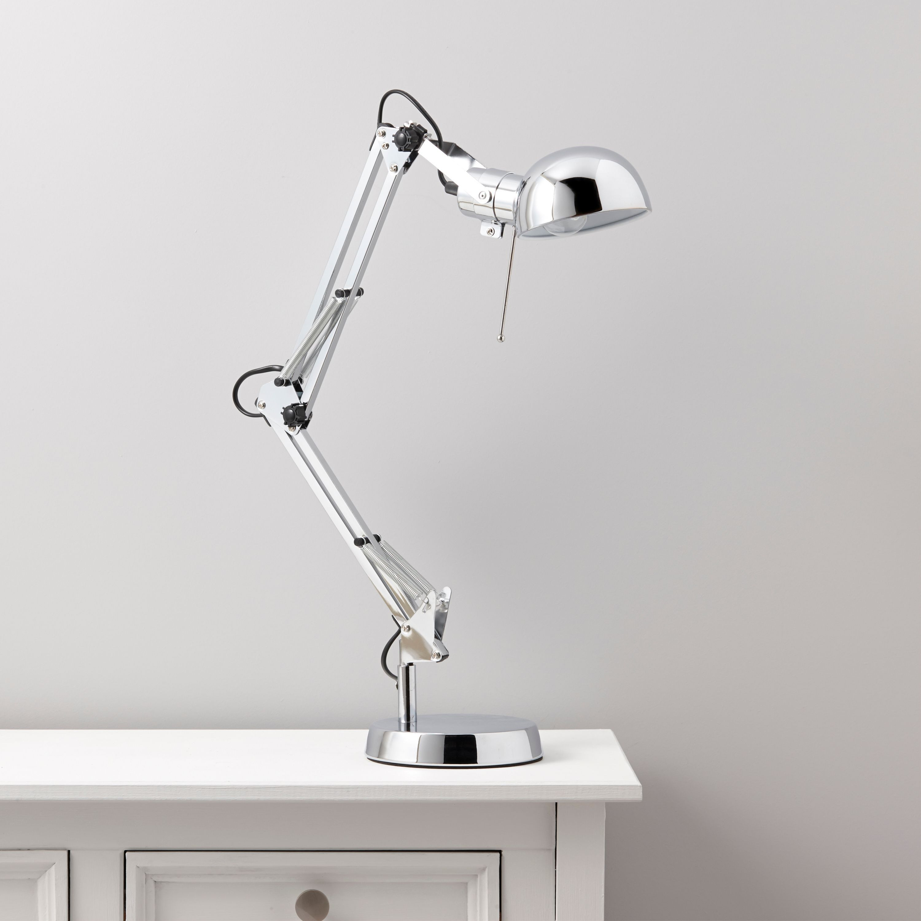 Best ideas about Diy Desk Lamp . Save or Pin Tutti Chrome effect Desk lamp Departments Now.