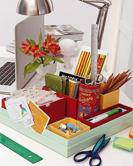 Best ideas about DIY Desk Organizer Ideas . Save or Pin 13 DIY home office organization ideas How to declutter Now.