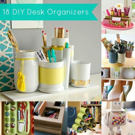 Best ideas about DIY Desk Organizer Ideas . Save or Pin DIY Desk Organizer 18 Project Ideas diycandy Now.