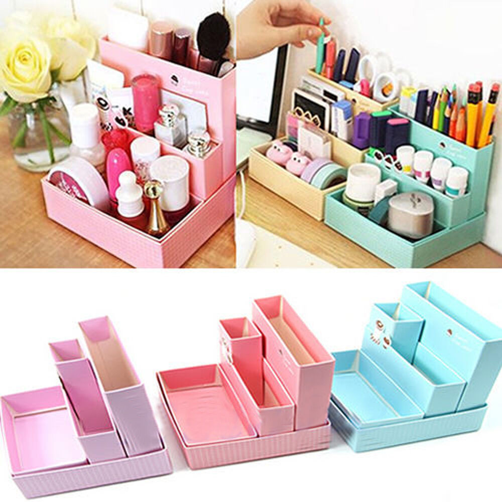Best ideas about DIY Desk Organizer Ideas . Save or Pin Home DIY Makeup Organizer fice Paper Board Storage Box Now.