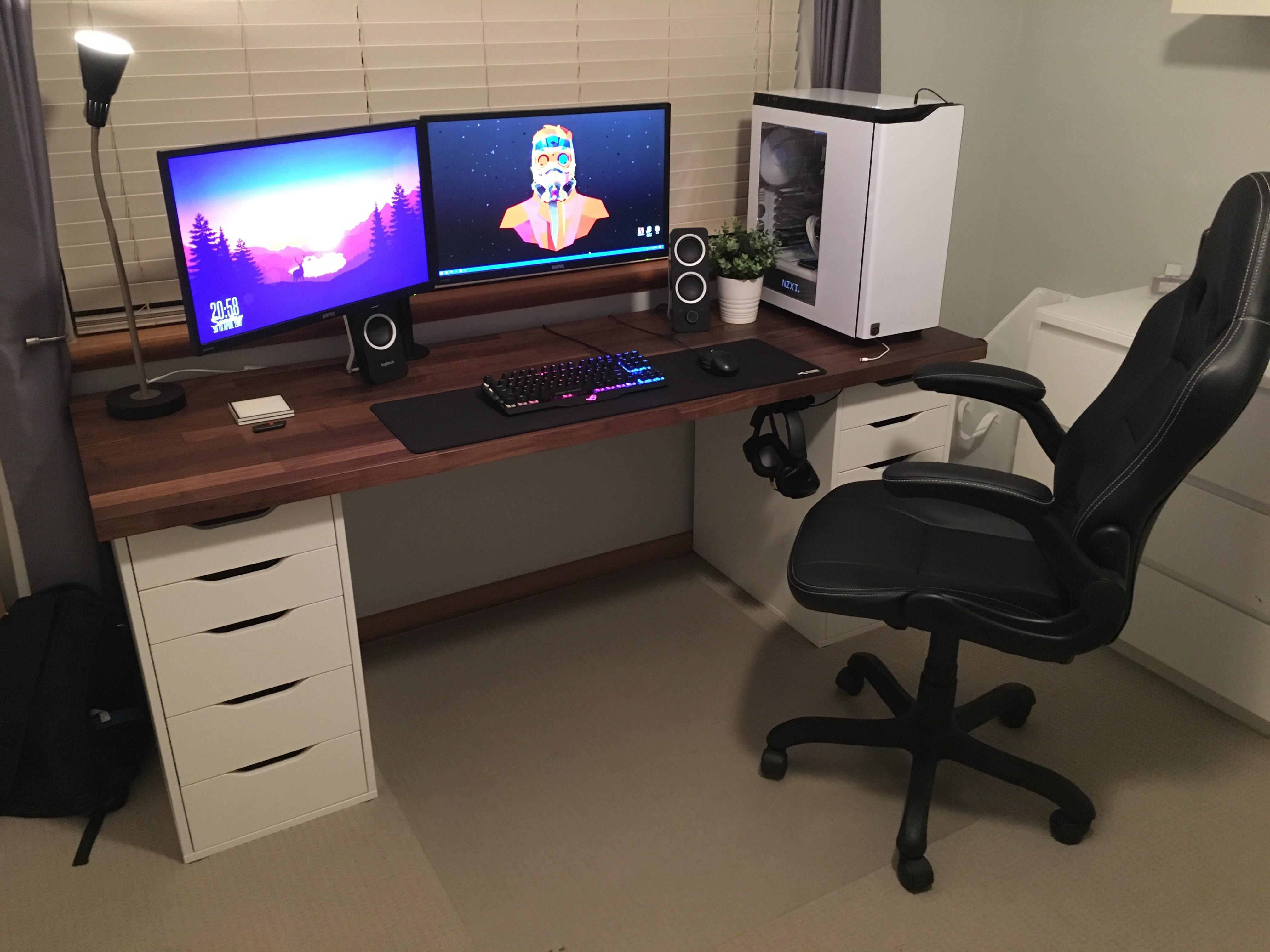 Best ideas about DIY Desk Reddit . Save or Pin Generic IKEA Setup V2 battlestations Now.