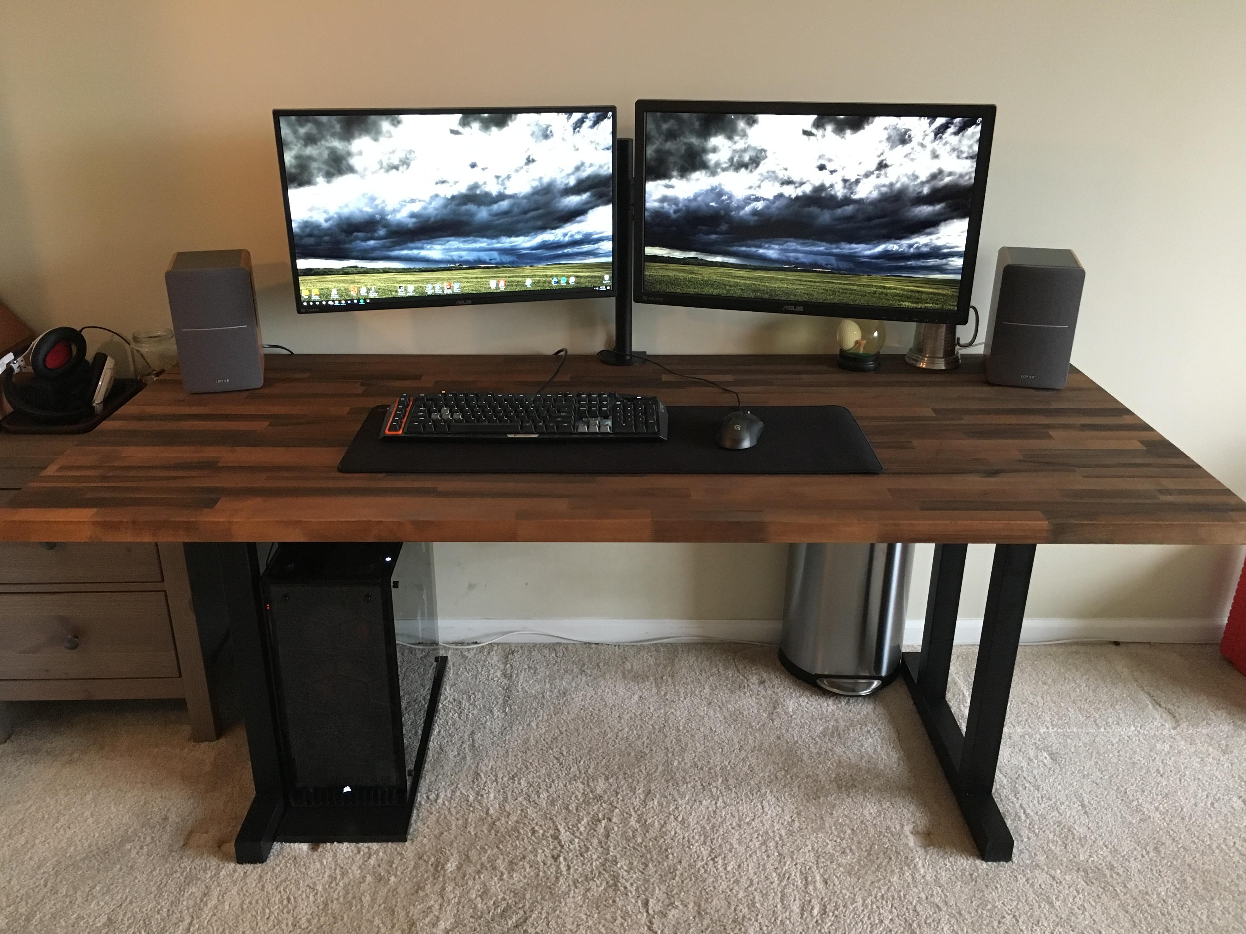 Best ideas about DIY Desk Reddit . Save or Pin My new battlestation DIY Desk for Now.