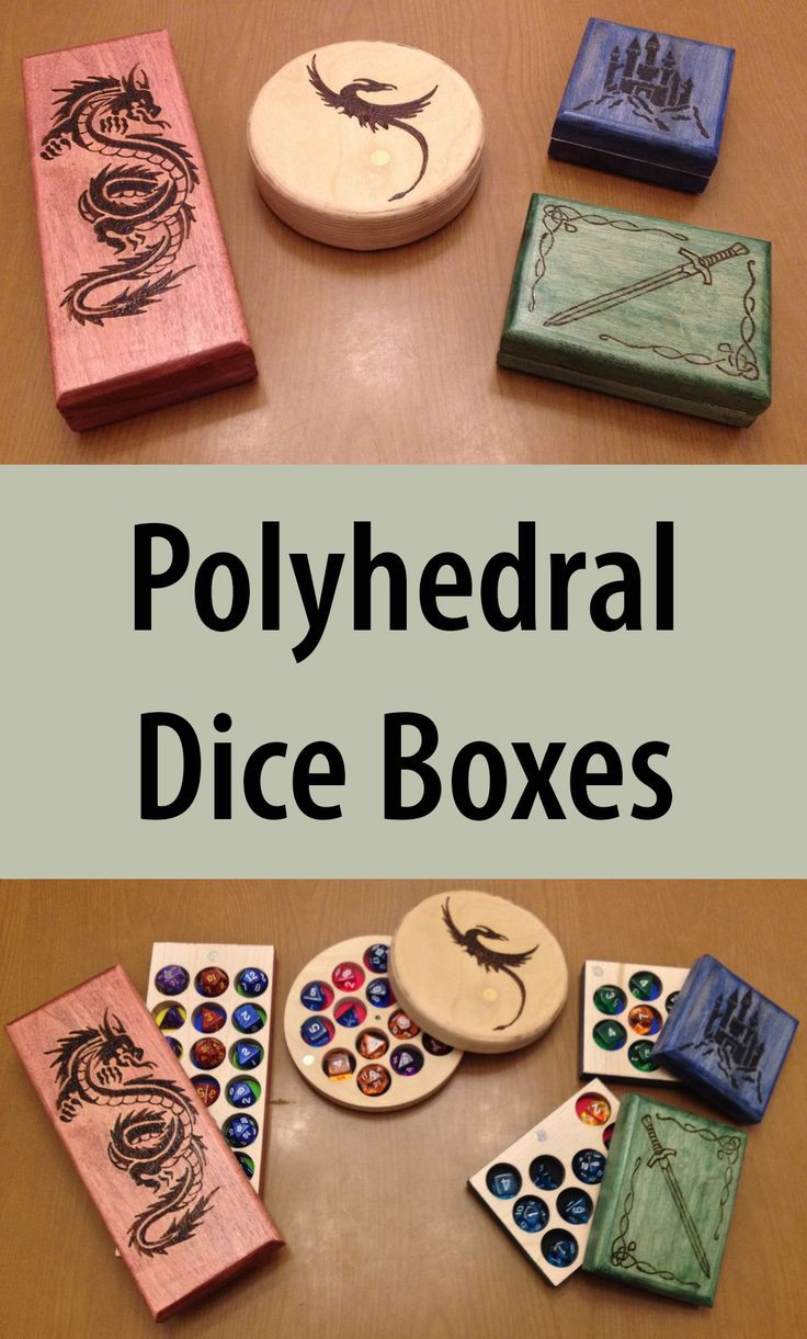 Best ideas about DIY Dice Box . Save or Pin Polyhedral Dice Boxes Woodworking Now.
