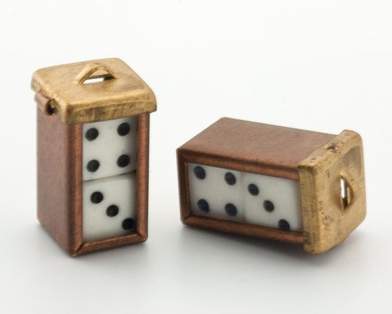 Best ideas about DIY Dice Box . Save or Pin 2 Lucky Dice Charms DIY Brass Dice Box Pendant Earring Finding Now.
