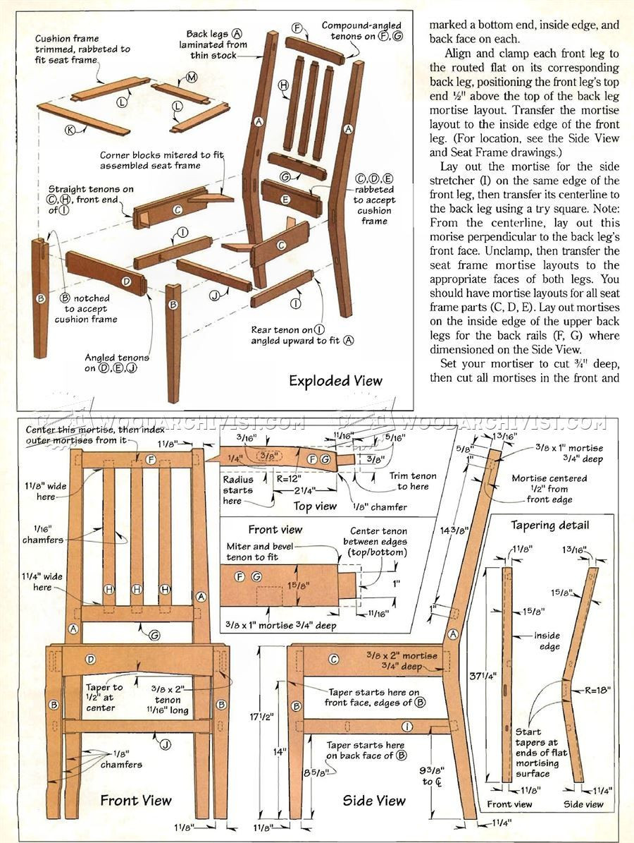 Best ideas about DIY Dining Room Chair Plans . Save or Pin 587 Contemporary Dining Chair Plans Furniture Plans and Now.