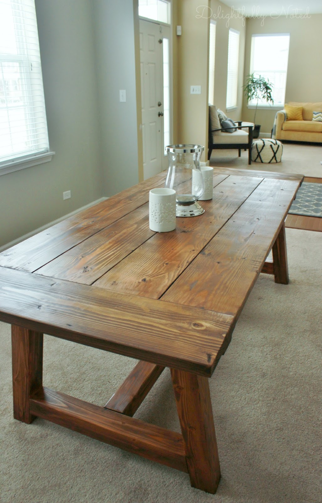 Best ideas about Diy Dining Table . Save or Pin Holy Cannoli We Built a Farmhouse Dining Room Table Now.