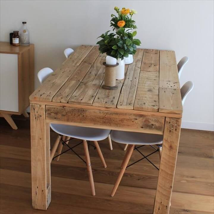 Best ideas about Diy Dining Table . Save or Pin 58 DIY Pallet Dining Tables Now.