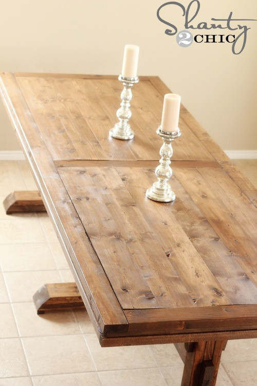 Best ideas about Diy Dining Table . Save or Pin DIY Dining Table Triple Pedestal Farmhouse Shanty 2 Chic Now.