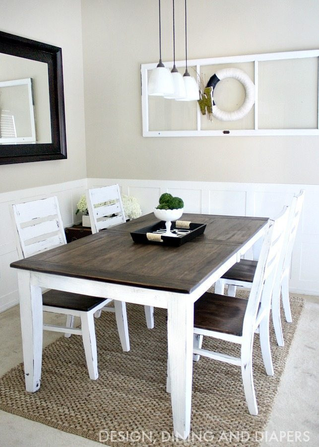 Best ideas about Diy Dining Table . Save or Pin Farmhouse Table Makeover Taryn Whiteaker Now.