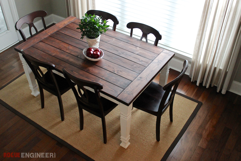 Best ideas about Diy Dining Table . Save or Pin DIY Farmhouse Table Free Plans Now.