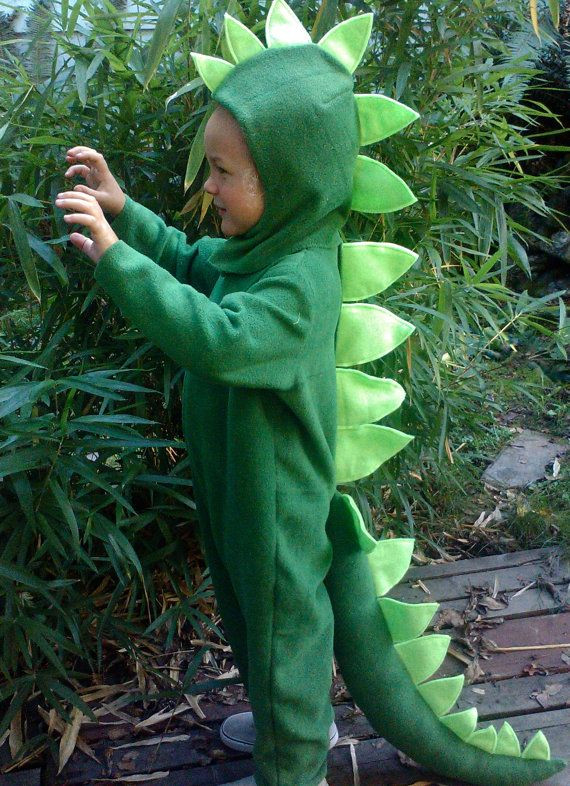Best ideas about DIY Dinosaur Costume Toddler . Save or Pin Dinosaur Halloween Costume Kids Green Dino full suit by Now.