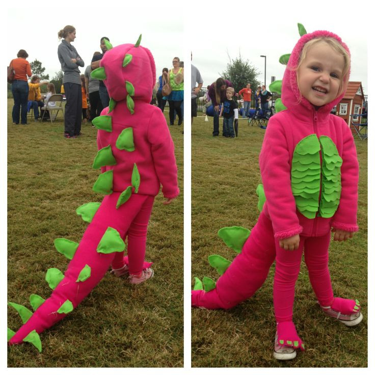 Best ideas about DIY Dinosaur Costume Toddler . Save or Pin Pink DIY dinosaur costume Hoo and leggings from Now.