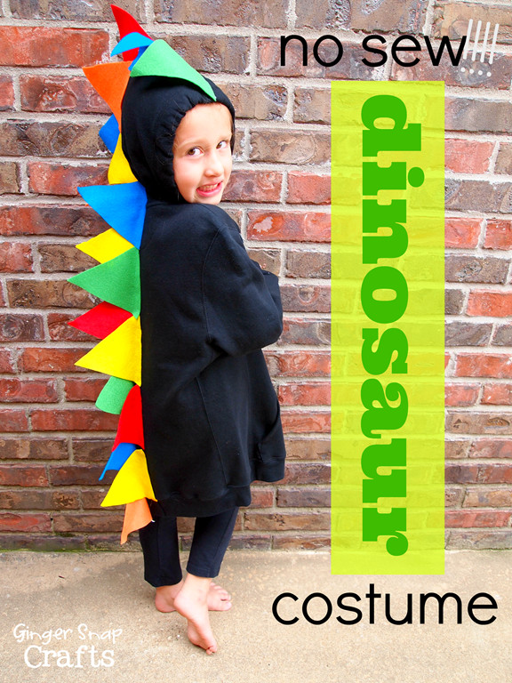 Best ideas about DIY Dinosaur Costume Toddler . Save or Pin No Sew Halloween Costumes Sugar Bee Crafts Now.