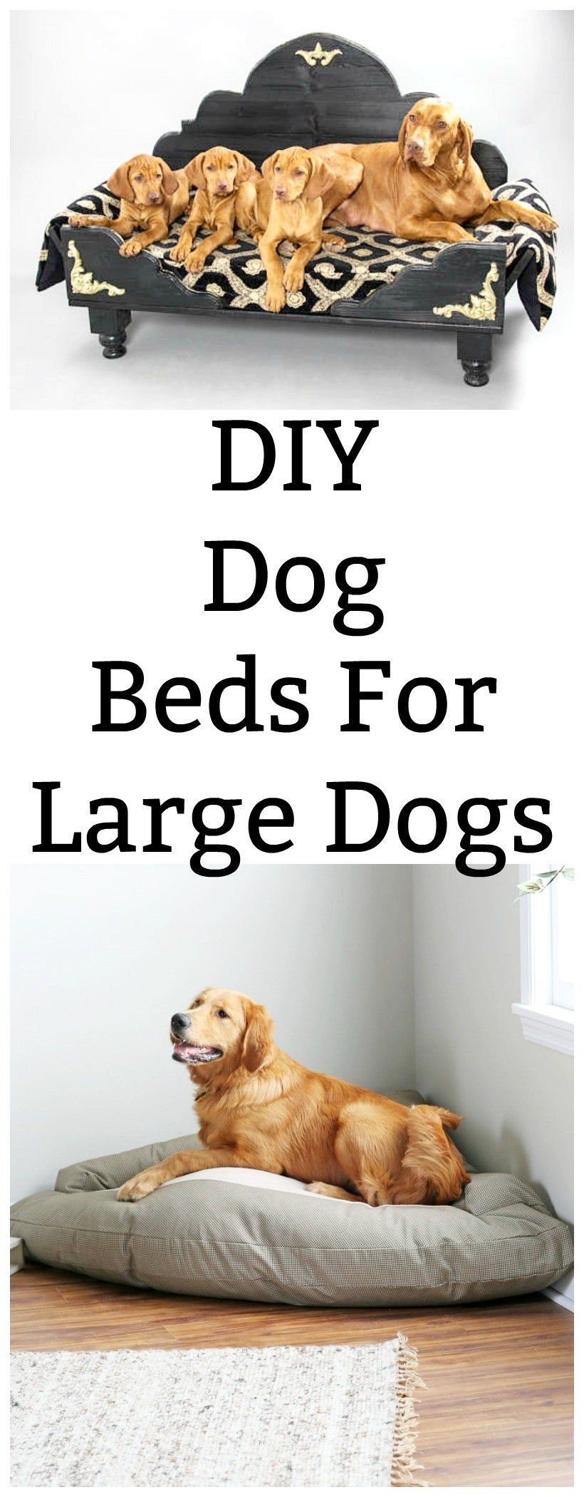 Best ideas about DIY Dog Bed For Large Dogs . Save or Pin DIY Dog Beds for Dogs Chemistry Cachet Now.