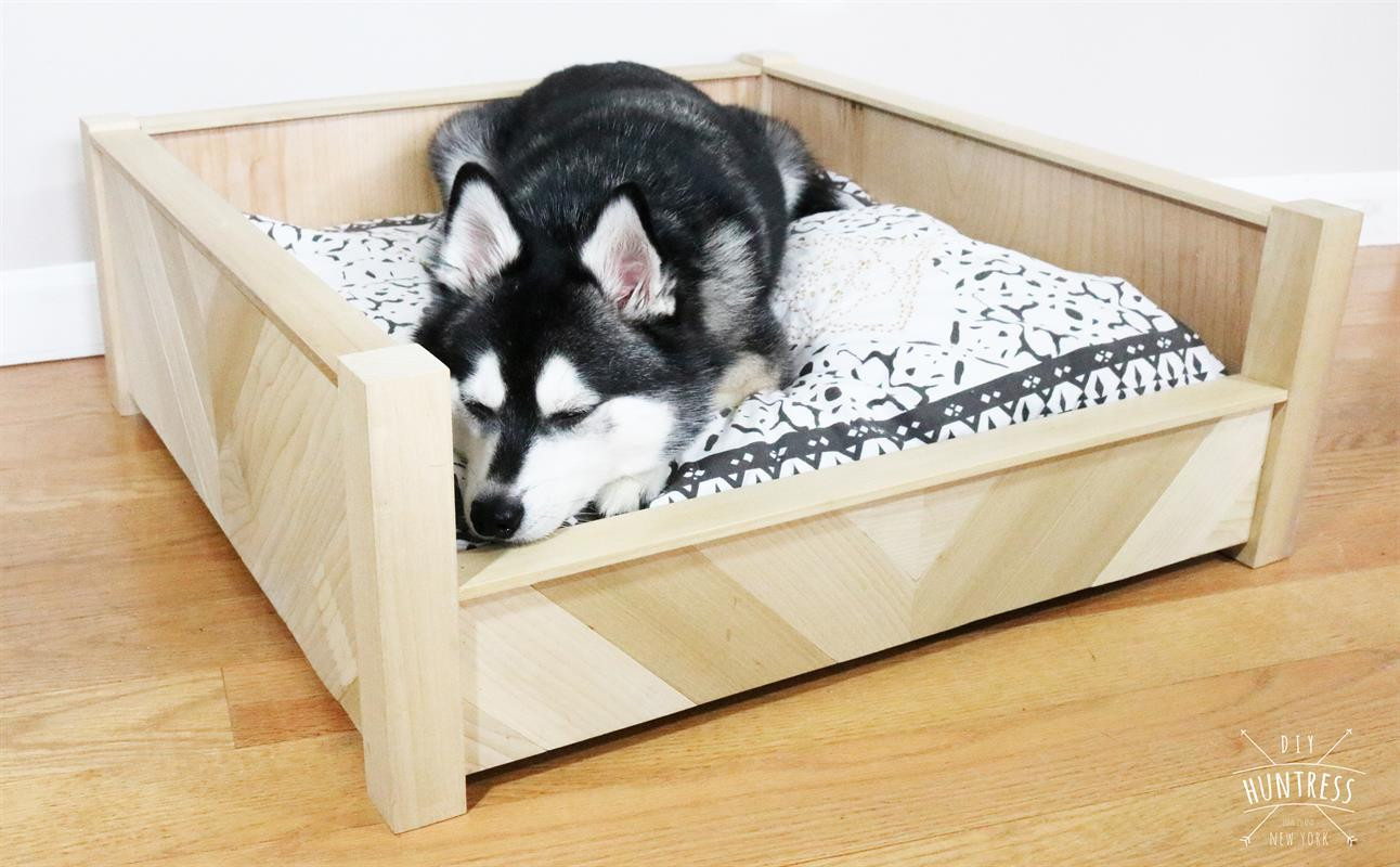 Best ideas about DIY Dog Bed Frame . Save or Pin DIY Chevron Wooden Dog Bed buildsomething Now.