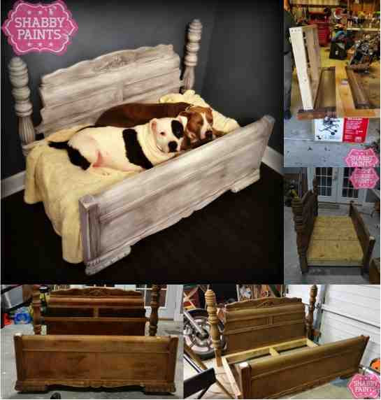 Best ideas about DIY Dog Bed Frame . Save or Pin DIY Bed Frame Upcycled to Gorgeous Pet Bed Do It Now.