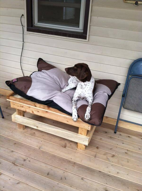 Best ideas about DIY Dog Bed Pallet . Save or Pin DIY How to Build a Pallet Dog Bed Now.